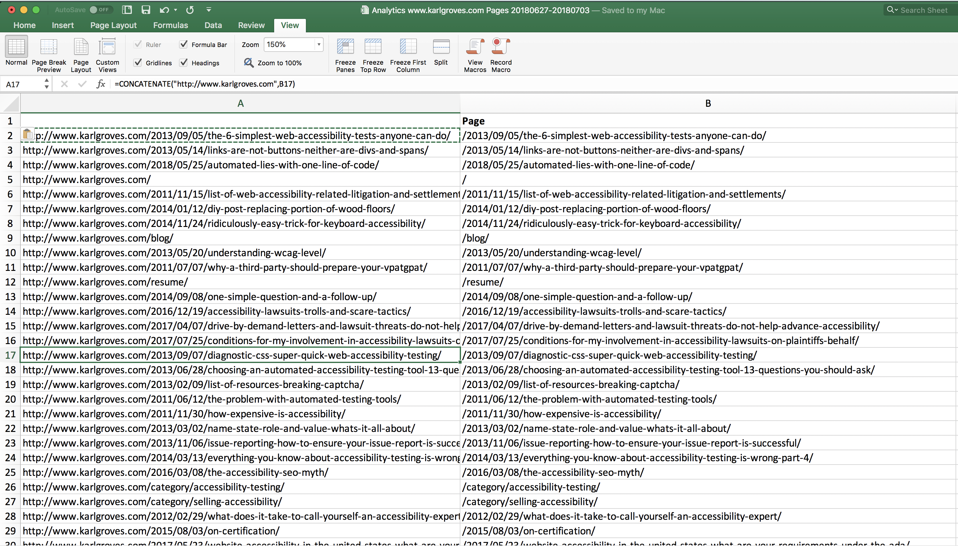 Screenshot showing the copy-paste in the new column