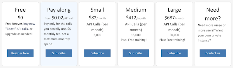 screencap: pricing plans, pay-along