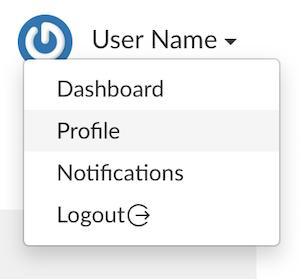 screencap: profile menu